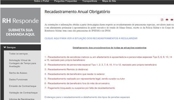 Inativos e pensionistas do Estado devem regularizar situação no Portal do Servidor 1