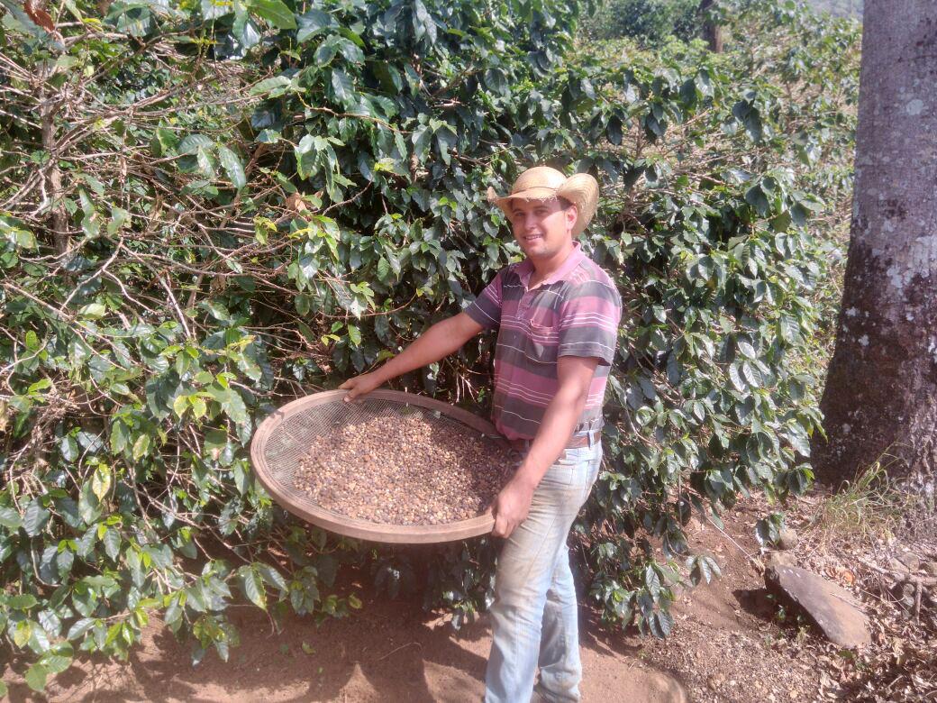 Rodrigo Dias de Pádua quer aprender logo as novas técnicas no cultivo do café . (Foto: Arquivo pessoal)